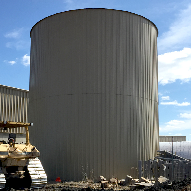 Bordine's Hot Water Storage Silo
